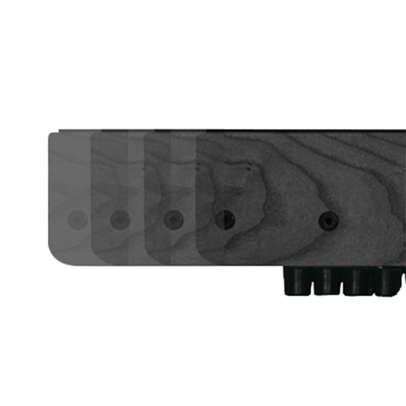 Waterrower XL rails all black  OFWR0220XL/black