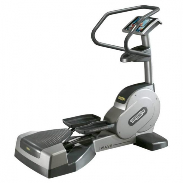 TechnoGym lateral trainer Wave Excite 700i.e classic silver with LCD TV used  BBTGWEE700IeLCDTV