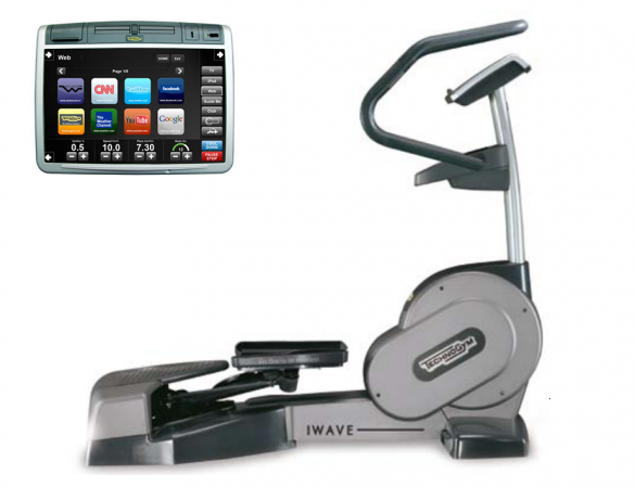 TechnoGym lateral trainer Wave Excite+ 700 Visioweb silver used  BBTGWE700VLCDTVIZI