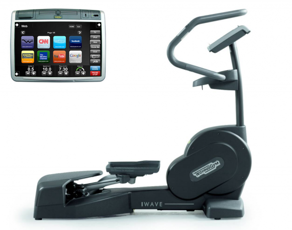 TechnoGym lateral trainer Wave Excite+ 700 Visioweb black used  BBTGWE700VLCDTVIZW