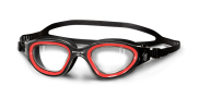 Goggles black/red clear lens