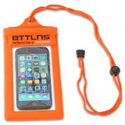 Waterproof phone pouch orange